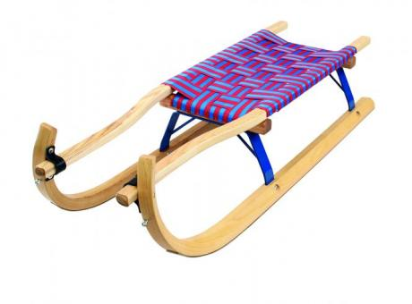 Rental toboggan, double seater with wooden skids (4cm broad)